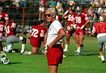 San Francisco 49ers training camp August 4, 1988 at Sierra College, Rocklin, California.  49ers head coach Bill Walsh.