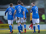 St Johnstone v Partick Thistle....17.01.15  SPFL<br /> Dave Mackay celebrates his goal<br /> Picture by Graeme Hart.<br /> Copyright Perthshire Picture Agency<br /> Tel: 01738 623350  Mobile: 07990 594431