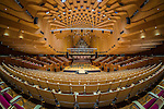 A fisheye shot of the magnificent Concert Hall in the Sydney Opera House in Sydney Australia