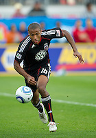 August 21 2010   D.C. United defender Jordan Graye #16 in action during a game between DC United and Toronto FC at BMO Field in Toronto..DC United won 1-0.