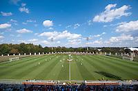 The second half starts at Klockner Stadium in Charlottesville, VA.  Virginia defeated Duke, 1-0.
