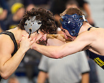 The University of Michigan wrestling team beat No. 23 Northwestern, 23-13, at Cliff Keen Arena in Ann Arbor, Mich., on January 27, 2013.