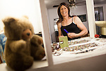 Karen Scot, 56, gets ready at her North Fork, California home before her first day teaching as a transgendered woman at Yosemite High School in Oakhurst, California. Scot has been a science teacher for 30 years.