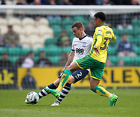 Preston North End's Marnick Vermijl in action with Norwich City's Josh Murphy<br /> <br /> Photographer Mick Walker/CameraSport<br /> <br /> The EFL Sky Bet Championship - Preston North End v Norwich City - Monday 17th April 2017 - Deepdale - Preston<br /> <br /> World Copyright &copy; 2017 CameraSport. All rights reserved. 43 Linden Ave. Countesthorpe. Leicester. England. LE8 5PG - Tel: +44 (0) 116 277 4147 - admin@camerasport.com - www.camerasport.com
