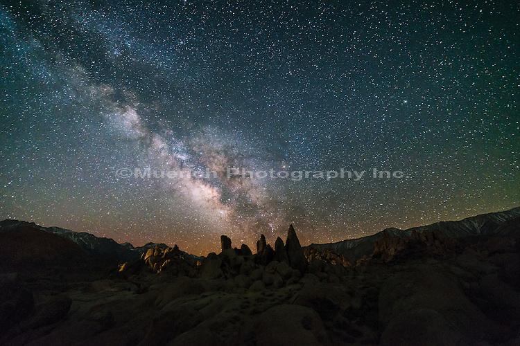 Alabama Hills and Milky Way, California