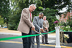 Athens Mayor Paul Wiehl (Left) and Ohio University President Roderick McDavis open Bobcat Ln. Photo by Ben Siegel