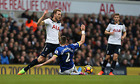 Tottenham Hotspur's Harry Kane is challenged by Everton's Morgan Schneiderlin<br /> <br /> Photographer Rob Newell/CameraSport<br /> <br /> The Premier League - Tottenham Hotspur v Everton - Sunday March 5th 2017 - White Hart Lane - London<br /> <br /> World Copyright &copy; 2017 CameraSport. All rights reserved. 43 Linden Ave. Countesthorpe. Leicester. England. LE8 5PG - Tel: +44 (0) 116 277 4147 - admin@camerasport.com - www.camerasport.com