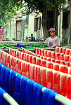 A silk spinning and dying factory near Mandalay, Myanmar.