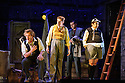 London, UK. 07.10.2015. English Touring Opera presents THE TALES OF HOFFMANN, at the Britten Theatre, Royal College of Music. Written by Jacques Offenbach, with libretto by Jules Barbier, this production is directed by James Bonas. Picture shows: Sam Furness, Matt R J Ward, Tim Dawkins, Louise Mott. Photograph © Jane Hobson.