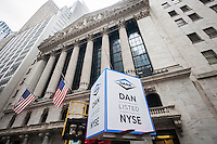 The New York Stock Exchange on Wednesday, November 9, 2016, the day after Election Day and Donald Trump's win over Hillary Clinton celebrates Dana Incorporated's ringing of the opening bell. Dana Inc. supplies drivetrain, sealing and thermal management technologies, made in the U.S.A. and sold worldwide.  (© Richard B. Levine)