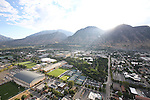 1309-22 0117<br /> <br /> 1309-22 BYU Campus Aerials<br /> <br /> Brigham Young University Campus West looking East, Provo, Sunrise, Smith Fieldhouse SFH, South Field SFLD, Richards Building RB, Richards Buildings Fields RBF, Student Athlete Building SAB, Indoor Practice Facility IPF, Outdoor Tennis Courts TCF<br /> <br /> September 6, 2013<br /> <br /> Photo by Jaren Wilkey/BYU<br /> <br /> &copy; BYU PHOTO 2013<br /> All Rights Reserved<br /> photo@byu.edu  (801)422-7322