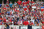 20 August 2014: U.S. fans, the American Outlaws. The United States Women's National Team played the Switzerland Women's National Team at WakeMed Stadium in Cary, North Carolina in an women's international friendly soccer game. The United States won the match 4-1.