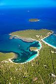 Baie de Kanuméra et presqu'île de Kuto devant l'îlot Bayonnaise, Ile des Pins, Nouvelle-Calédonie