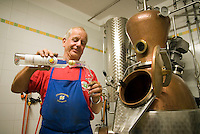 Vinschgau, Val Venosta, South Tyrol, June 2007. Farmer Josef of the Brunnerhof, distilles his own schnapps. South Tyrol used to be part of Austria until it became part of Italy after WWI. Photo by Frits Meyst/Adenture4ever.com
