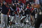 Ole Miss' Jeff Scott (3) returns a punt 67 yards for a touchdown at Vaught-Hemingway Stadium in Oxford, Miss. on Saturday, September 10, 2011. Ole Miss won 42-24.