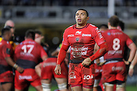 Bryan Habana of Toulon looks on during a break in play. European Rugby Champions Cup match, between Bath Rugby and RC Toulon on January 23, 2016 at the Recreation Ground in Bath, England. Photo by: Patrick Khachfe / Onside Images