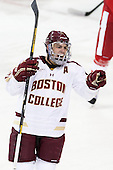 Steven Whitney (BC - 21) - The Boston College Eagles defeated the visiting Boston University Terriers 5-2 on Saturday, December 1, 2012, at Kelley Rink in Conte Forum in Chestnut Hill, Massachusetts.