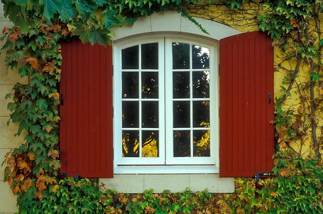 Window at Jordan Winery, near Healdsburg, CA