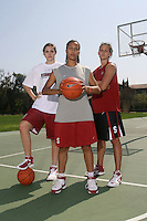 STANFORD, CA - SEPTEMBER 15:  Rosalyn Gold-Onwude, Morgan Clyburn and Jillian Harmon during a photo shoot on September 15, 2008 in Stanford, CA.