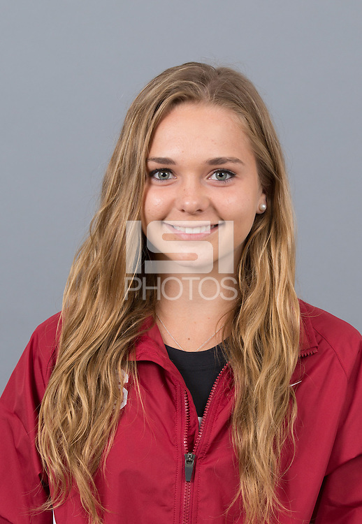 STANFORD, CA - SEPTEMBER 24, 2014--Anna Laman, with Stanford University Cross Country Team