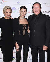 NEW YORK, NY-October 13:Yolanda Hadid, Bella Hadid,Larry Scott  at the Global Lyme Alliance's 2016 United For A Lyme-Free World Gala at Cipriani 42nd Street in New York.October 13, 2016. Credit:RW/IMerdiaPunch