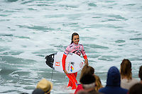 BELLS BEACH, Victoria/AUS (Saturday, March 30, 2013) Alana Blanchard (HAW). - The Rip Curl Women's Pro Bells Beach presented by Ford, Stop No. 3 of 7 on the 2013 ASP Women's World Championship Tour, completed a mammoth day of competition today with Rounds 2, 3, 4, the Quarterfinals and the Semifinals all ran in pumping four-to-six foot (1.5 - 2 metre) waves at Bells Beach..Tyler Wright (AUS), 18, current ASP WCT No. 1, put on an inspired performance throughout today's five rounds of competition, blending her energetic approach with unmatched power in the Bells Bowl. The young natural-footer closed her day out with a Semifinal win over a rampaging Courtney Conlogue (USA), 20, in classic Bells conditions..This afternoon's Semifinal win earned Wright her third, consecutive Finals berth of 2013 - a Final that can be run as early as tomorrow..Conlogue, despite the near miss in the Semifinals, had a sensational day of competition, posting scores in the excellent range before coming up just short of Wright this afternoon..Carissa Moore (HAW), 20, 2011 ASP Women's World Champion, closed out the day's action with one of the highest-scoring bouts in women's surfing history against California powerhouse Lakey Peterson (USA), 18, in this afternoon's Semifinals..Moore will now face Wright in a rematch from the previous event's Final in Western Australia...Peterson, into her sophomore year amongst the women's elite, was electric throughout today's competition, consistently posting excellent scores en route to her Semifinal clash with Moore..This morning saw reigning five-time ASP Women's World Champion Stephanie Gilmore (AUS), 25, confirm the sustaining of a small undisplaced fracture of the bone in her left foot from her Round 1 heat two days ago. After consulting with physicians and receiving treatment for the injury from on-site medical staff, the phenomenal natural-footer proceeded to surf through three rounds of competition, posting mammoth scores before falling agonisingly