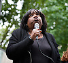 Diane Abbott Labour MP speaks at Michael Brown &quot;Hands Up Don't Shoot&quot; rally <br />