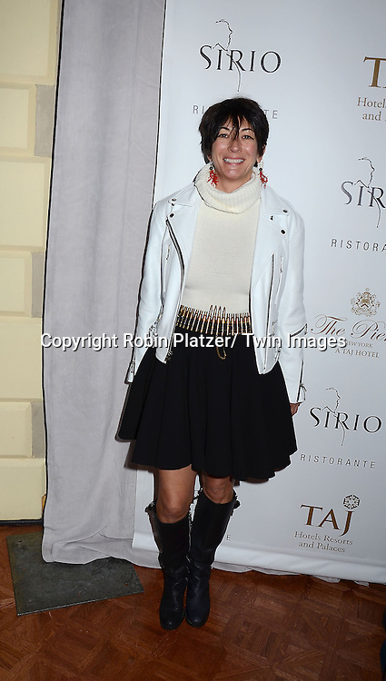 Ghislaine Maxwell attends the Sirio Ristorante New York opening in the Pierre Hotel, a TAJ Hotel on October 24, 2012 in New York City. Sirio Maccioni hosted the party