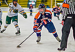 4 January 2014:  Syracuse University Orange forward Melissa Piacentini, a Sophomore from South Weymouth, MA, in action against the University of Vermont Catamounts, in non-conference play at Gutterson Fieldhouse in Burlington, Vermont. The Orange defeated the UVM Lady Cats 4-3 in their first ever NCAA meeting. Mandatory Credit: Ed Wolfstein Photo *** RAW (NEF) Image File Available ***