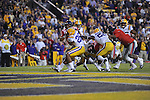 Ole Miss' Randall Mackey (1) scores vs. LSU at Tiger Stadium in Baton Rouge, La. on Saturday, November 17, 2012. LSU won 41-35.....