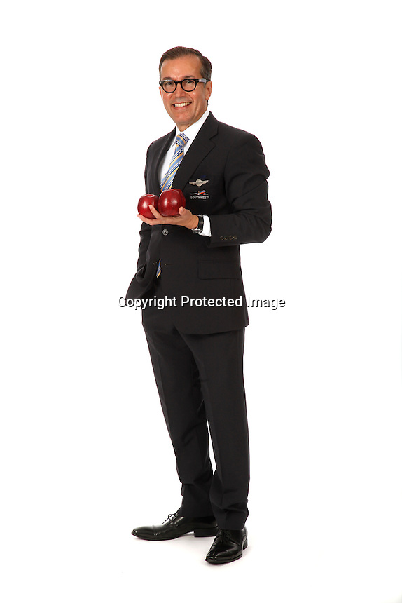 Armando Cavasos, flight attendant for Southwest Airlines. Photographed in Houston, TX on May 16, 2013 for Sprit Magazine. Photo by Chris Covatta.