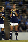 22 October 2015: Notre Dame's Ginny McGowan. The University of North Carolina Tar Heels hosted the Notre Dame University Fighting Irish at Fetzer Field in Chapel Hill, NC in a 2015 NCAA Division I Women's Soccer game. UNC won the game 2-1.