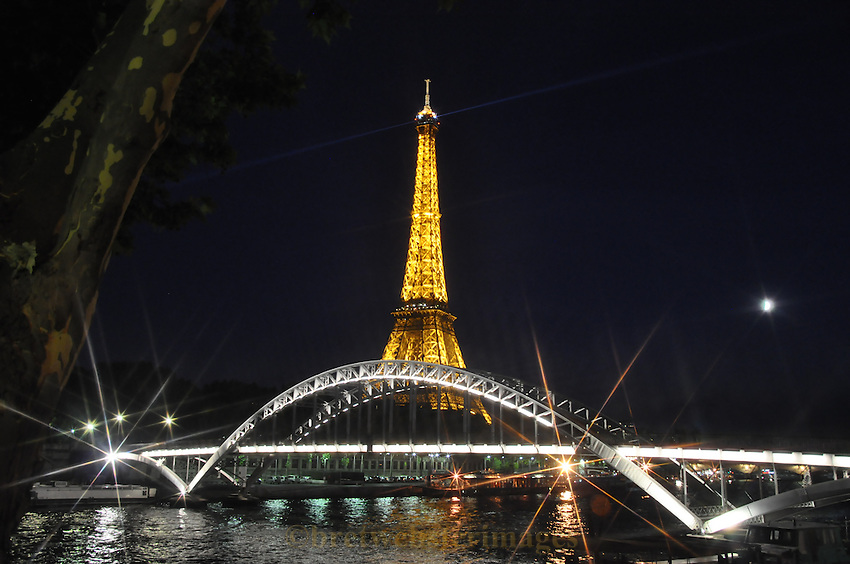 Eiffel Tower Paris France at Night