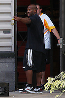 PITTSBURGH - JULY 26:  A day after the NFL lockout ended, James Harrison #92 of the Pittsburgh Steelers reports to the South Side training facility on July 26, 2011 in Pittsburgh, Pennsylvania.  (Photo by Jared Wickerham/Getty Images)