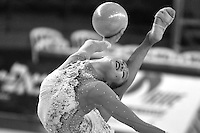 Aliya Garaeva of Azerbaijan performs with ball at Holon Grand Prix, Israel on March 4, 2011.  (Photo by Tom Theobald).