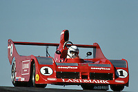 Jeff Wood drives a Lola T530 entered by Carl Haas Racing Teams in the 1981 Can-Am race at Mid-Ohio Sports Car Course near Lexington, Ohio.