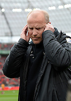 FUSSBALL   1. BUNDESLIGA   SAISON 2012/2013    31. SPIELTAG Bayer 04 Leverkusen - SV Werder Bremen                  27.04.2013 Trainer Thomas Schaaf (SV Werder Bremen)