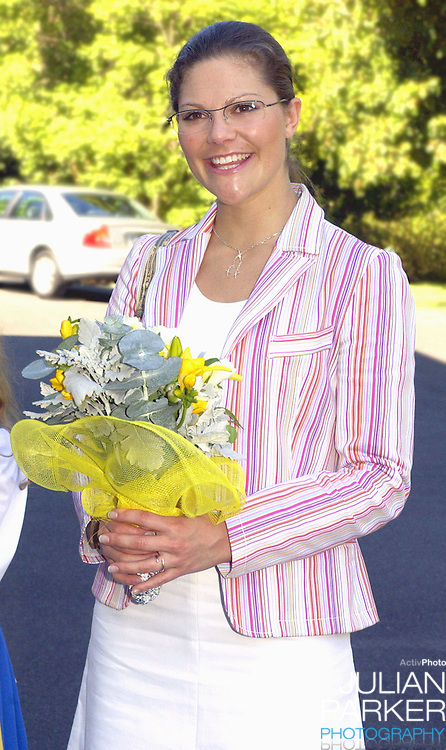 Crown Princess Victoria of Sweden attends a service at the Swedish Church in Toorak, Melbourne, during her visit to promote 'Swedish Style In Australia'..