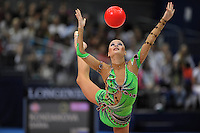September 11, 2009; Mie, Japan;  Ulyana Trofimova of Uzbekistan performs  with ball during All Around final at 2009 World Championships Mie. Photo by Tom Theobald .