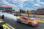 May 6, 2012; Commerce, GA, USA: NHRA pro stock driver Jason Line during the Southern Nationals at Atlanta Dragway. Mandatory Credit: Mark J. Rebilas-