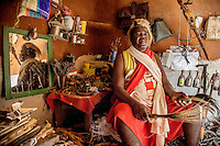 Witchdoctor Luis Janota (54). He is the regional chief of the Mozambican traditional healer's association AMETRAMO.