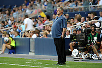 Sigi Schmid Seattle Sounders head coach on the side lines... Sporting Kansas City were defeated 1-2 by Seattle Sounders at LIVESTRONG Sporting Park, Kansas City, Kansas.