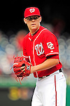 26 September 2010: Washington Nationals pitcher Drew Storen on the mound against the Atlanta Braves at Nationals Park in Washington, DC. The Nationals defeated the pennant-seeking Braves 4-2 to take the rubber match of their 3-game series. Mandatory Credit: Ed Wolfstein Photo
