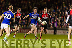 Tom O'Sullivan Kerry in action against Cillian O'Connor Mayo in the National Football league at Austin Stack Park, Tralee on Saturday night.