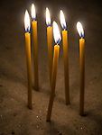 Candles, Interior, St. Sava Cathedral, Belgrade, Serbia<br /> <br /> One of the ten largest churches in the world, Temple St. Sava is built on Vračar hill, the location where his remains were burned in 1595 by Ottoman Grand Vizier Sinan Pasha to squelch a Serbian uprising in the 16th century.