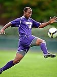 11 September 2009: University of Portland Pilots' midfielder Collen Warner, a Senior from Denver, CO, in action against the University of Vermont Catamounts in the first round of the 2009 Morgan Stanley Smith Barney Soccer Classic held at Centennial Field in Burlington, Vermont. The Catamounts and Pilots battled to a 1-1 double-overtime tie. Mandatory Photo Credit: Ed Wolfstein Photo