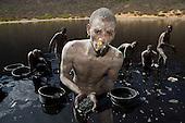 Salt miners at work, Ethiopia