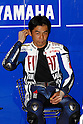 July 3, 2010 - Catalunya, Spain - Japanese rider Wataru Yoshikawa (Fiat Yamaha Team) takes a break during the Catalunya Grand Prix on July 3, 2010. (Photo Andrew Northcott/Nippon News).