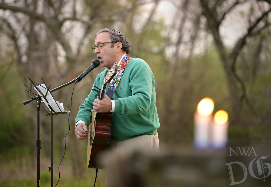 NWA Democrat-Gazette/BEN GOFF @NWABENGOFF<br /> Rabbi Rob Lennik sings on Friday April 8, 2016 during the inaugural service at the Community Synagogue of Northwest Arkansas in Lowell.