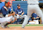 11 March 2008: Detroit Tigers' Manager Jim Leyland watches his team during a Spring Training game against the Cleveland Indians at Chain of Lakes Park, in Winter Haven Florida.The Tigers rallied to defeat the Indians 4-2 in the Grapefruit League matchup....Mandatory Photo Credit: Ed Wolfstein Photo